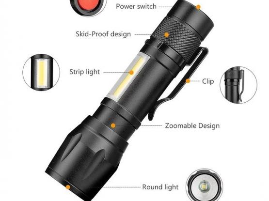 USB high brightest  double place led flashlight