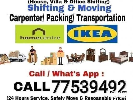 Moving..Shifting..Carpenter..Transportation service goodprice  ..call me-77539492