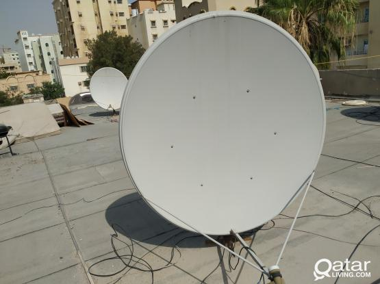 satellite dish with Airtel setup box for sale