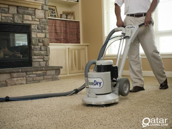 Carpet, sofa, cartoon dry clening with antibackterial disinfection.