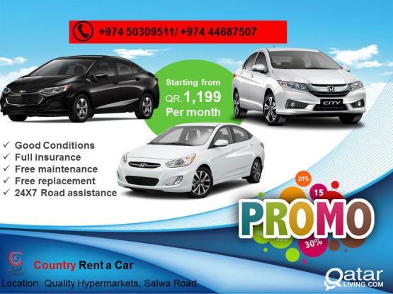2016 MODEL SEDAN CARS AT JUST 1199QR PER MONTH.CALL-50309511.