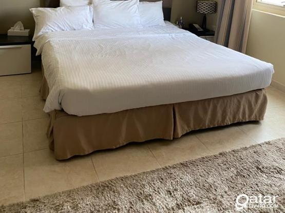 Fully Furnished, Sea View Serviced, En-Suite Bed Room in West Bay near City Center Doha for Rent