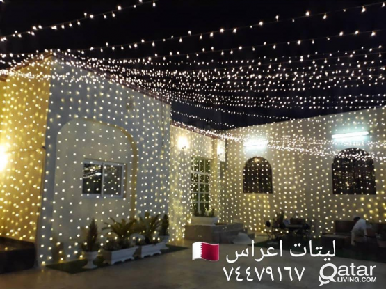 LIGHTING INSTALLATION FOR WEDDING AND PARTY