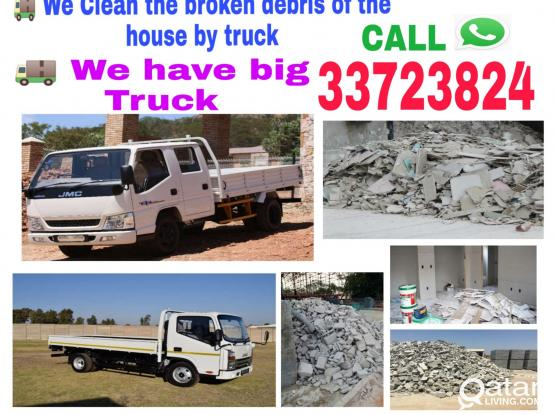 We do house cleaning , Big Truck available Service just you call 33723824 WhatsApp