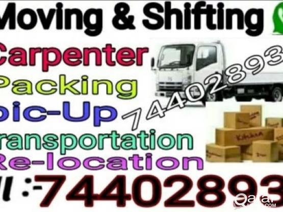 Shifting & moving, transportation, carpenter, call me 74402893