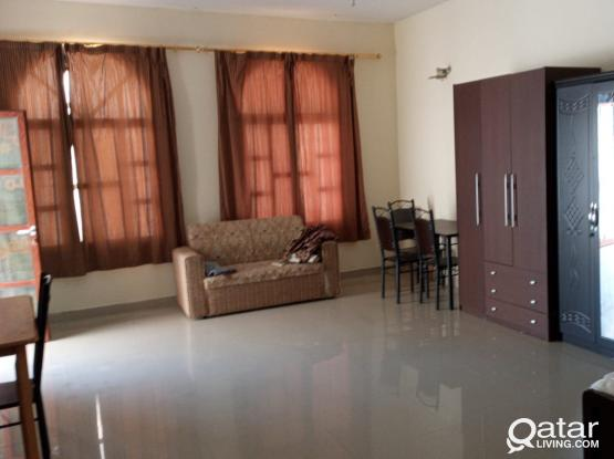FULLY FURNISHED STUDIO AVAILABLE FOR RENT IN AL KHOR WALKING DISTANCE TO LULU, ANSAR GALLERY