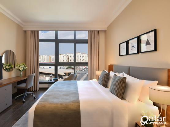 Luxury One Bedroom Serviced Apartment+1M Free