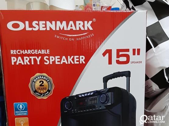 Olsenmark Rechargeable Party Speaker - OMMS1180