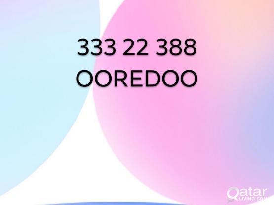 333 22 388  OOREDOO  Number . Never Used.