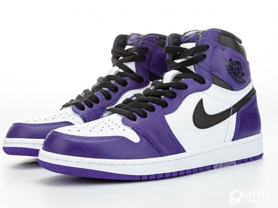 Jordan 1 High OG Court Purple size 8.5 and 9 US