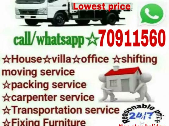 Lowest prices- Moving shifting Carpenter transport service please call me-70911560