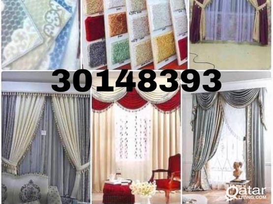 We are doing all type Carpet/Curtain/Sofa/wallpaper Making/selling with fixing call me-30148393