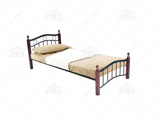 SINGLE BED WOODEN STEEL FOR SALE PH- +97477850533