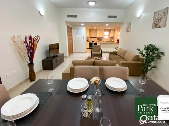 Large Semi-Furnished 3 Bedroom Apt. with Park views - Barwa City