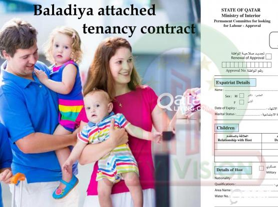 For Family Residence Visa application Tenancy Contract attested from Baladiya.