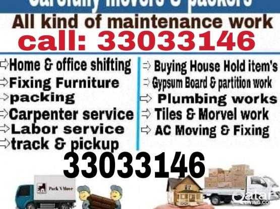 call or whatsapp 33033146. Awesome Price..Moving Shifting Carpenter Transport  services.