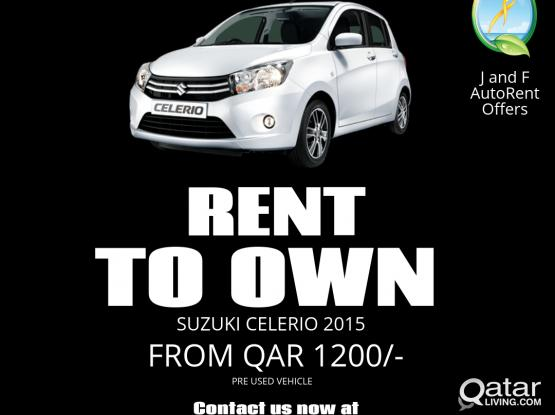 Rent to Own S/ Celerio 2015 in 12 months