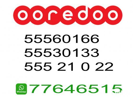 OOredoo Special Prepaid Sim Number 55530133, 55560166, 55521022
