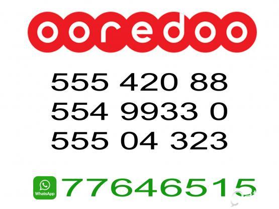 55504323, 55499330, 55542088 Special Ooredoo Prepaid