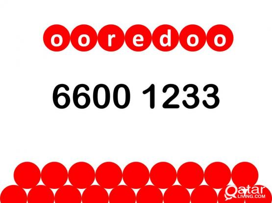 Ooredoo special number 66 00 12 33