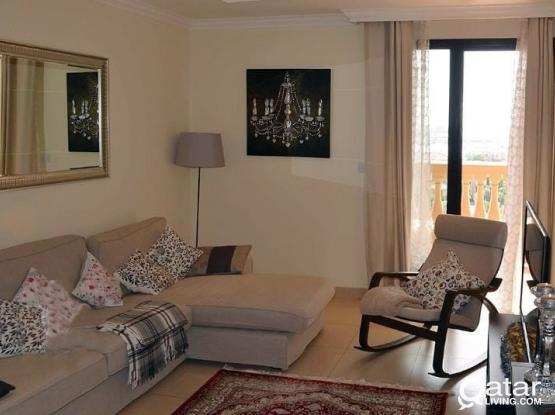 Hot Offer- Fully Furnished 1 BHK @ Pearl Just Qar.7500