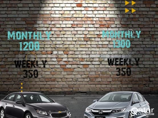 Summer Deals!!Sedan starting From 1200 Qr Per Month!!!