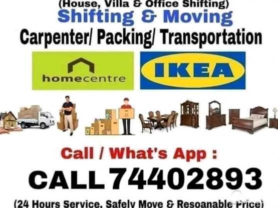 Shifting & moving,, transportation,, call me: 74402893