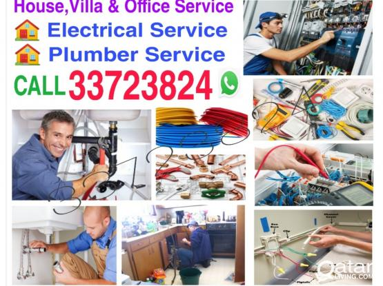 We do Electrical & plumber Service in qatar just call 33723824 WhatsApp