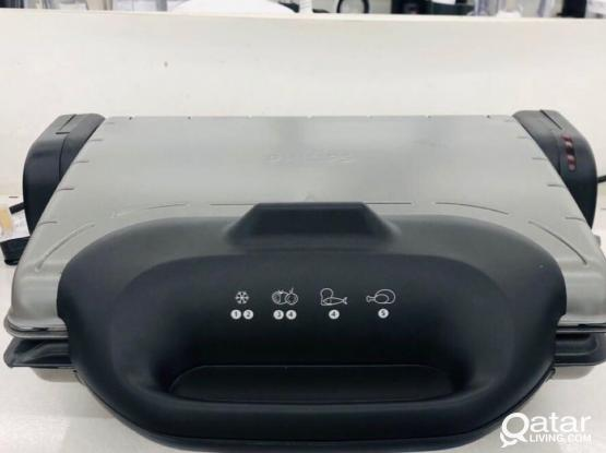 Philips 2000 W Health Grill (HD4467/91) – Black / Silver