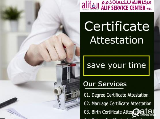 Certificate Attestation | Attestation Services | Certificate Attestation Qatar