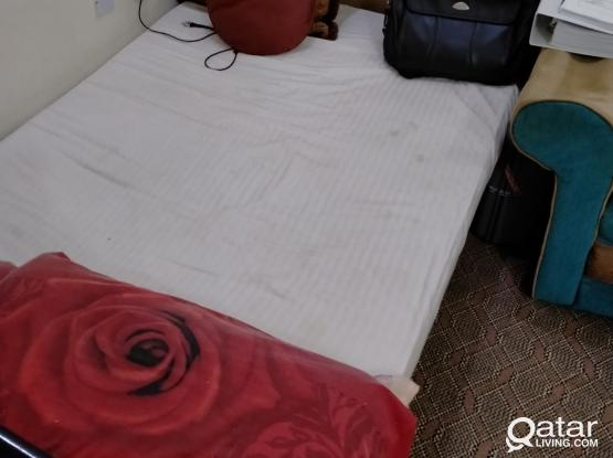 Queen size Bed with Matress and Pillow