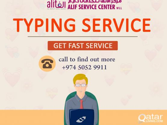 Typing Service | Best Legal Typing Services | Arabic Typing Services