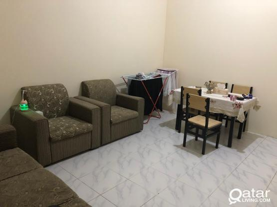 One bhk available fully furnished in alkhor back side lulu