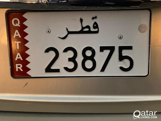 5 DIGIT 23875 FOR SALE PRIVATE VEHICLE.