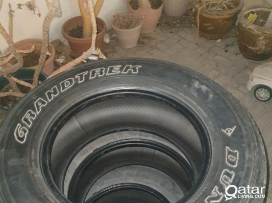 3 Dunlop tyres for sale 275/65/17