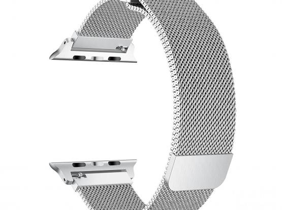 New Strap - Silver (Aluminium Magnetic) for Apple Watch 5 or 4 - 44/42 mm