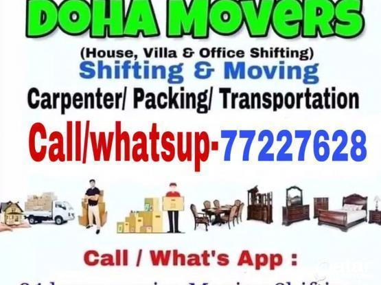 Best prices- Moving shifting with carpenter transport services-77227628,