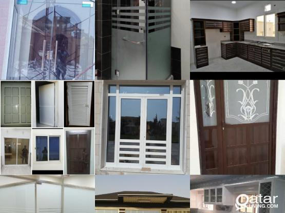 Aluminium and Glass, UPVC works. Please call or whatsapp 77543540