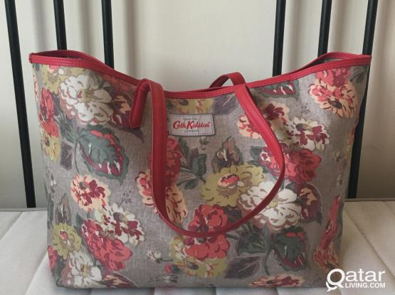Original Cath Kidston bag with leather trim
