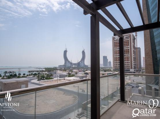 ALL BILLS INCLUDED! Brand New 3BR + Maid's room, Sea View,