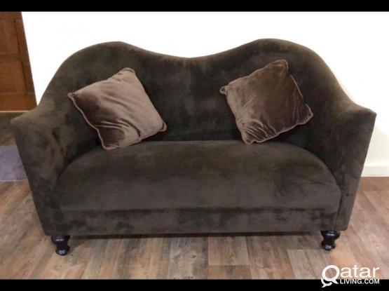 Brown Velvet Sofa From Home Center