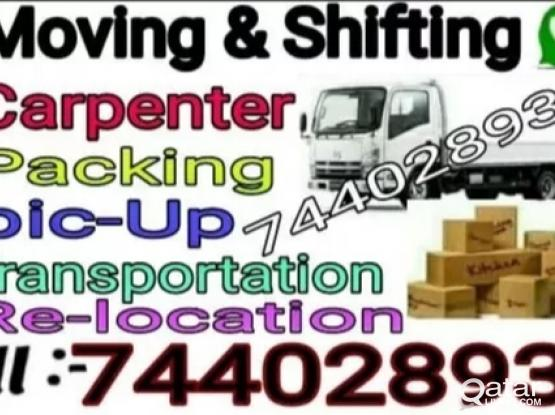 Moving..Shifting..Carpenter..Transportation service..call 74402893
