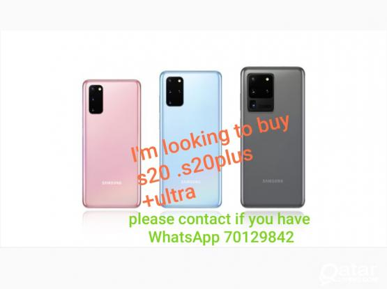 I'm looking to buy s20 ultra/ s20+ /20....... please WhatsApp if you have