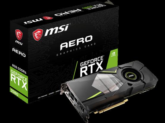 MSI NVIDIA GEFORCE RTX 2080 AERO 8GB GDDR6 GPU