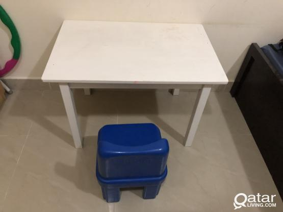 Kids study table from IKEA (wooden)