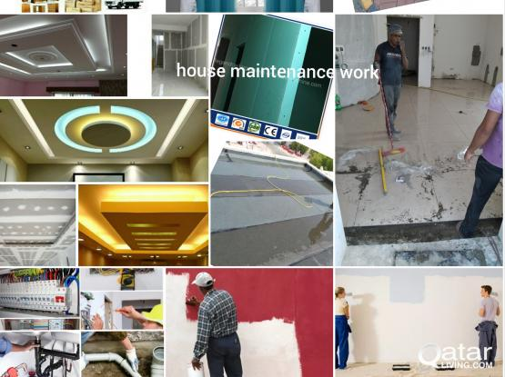 ALL KINDS OF MAINTENANCE SERVICES(Waterproofing,Tabuk,Plaster,Interlock,Paint,Gypsum,GRC). Please call 55023538