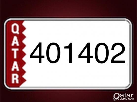 Car plate number (401 402)