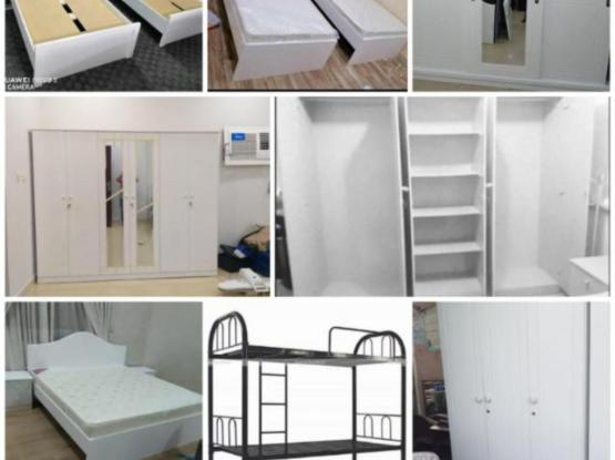 All type New furniture. Cabinet, Bed, Mattress, pillow. Please call or whatsapp 50585523