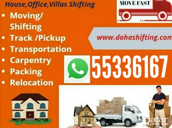 We do shifting and moving at good prices. Please whatsapp or call 55336167