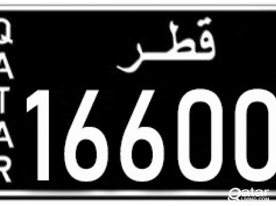 Special number plate 166006